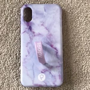 iPhone XS purple marble LOOPY CASE